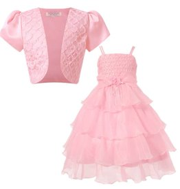 Meisjeskleding Feestjurk Evi - roze