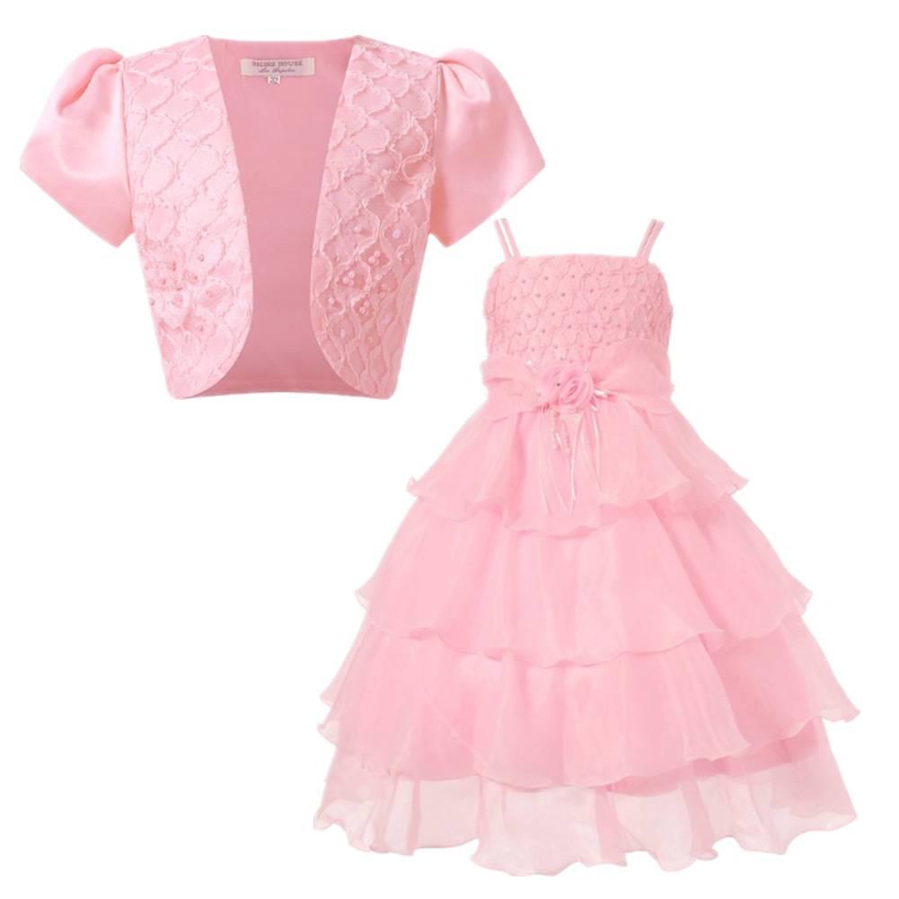 Meisjeskleding Meisjes Feestjurk Evi - roze