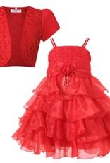 LaraModa Meisjes Feestjurk Evi - rood