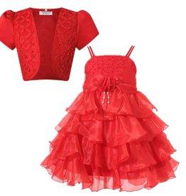 Meisjeskleding Feestjurk Evi - rood