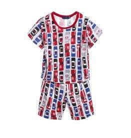 Jongenspyjama's American Cars Pyjama - rood / blauw / zwart
