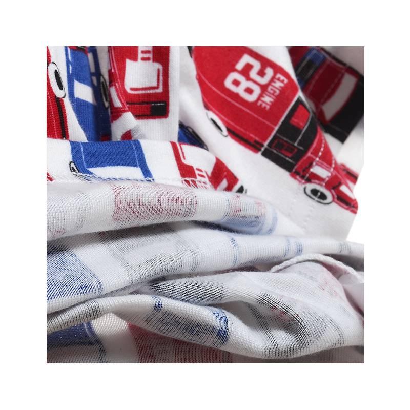 LaraModa American Cars Jongens Pyjama - rood / blauw / zwart