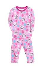 LaraModa Hello Kitty Meisjes Pyjama - roze