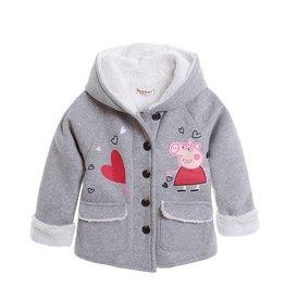 LaraModa Peppa Pig Meisjesjas - grijs