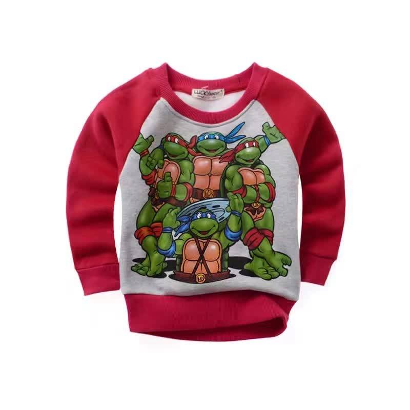 LaraModa Teenage Mutant Ninja Turtles Jongens Sweater - rood