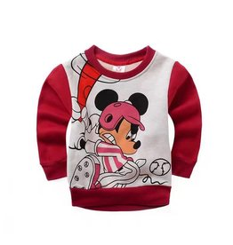 LaraModa Mickey Mouse Sweater 4 - rood