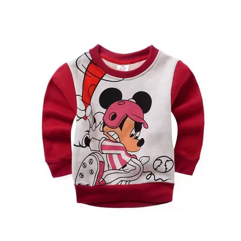 Jongenskleding Mickey Mouse Jongens Sweater 4 - rood