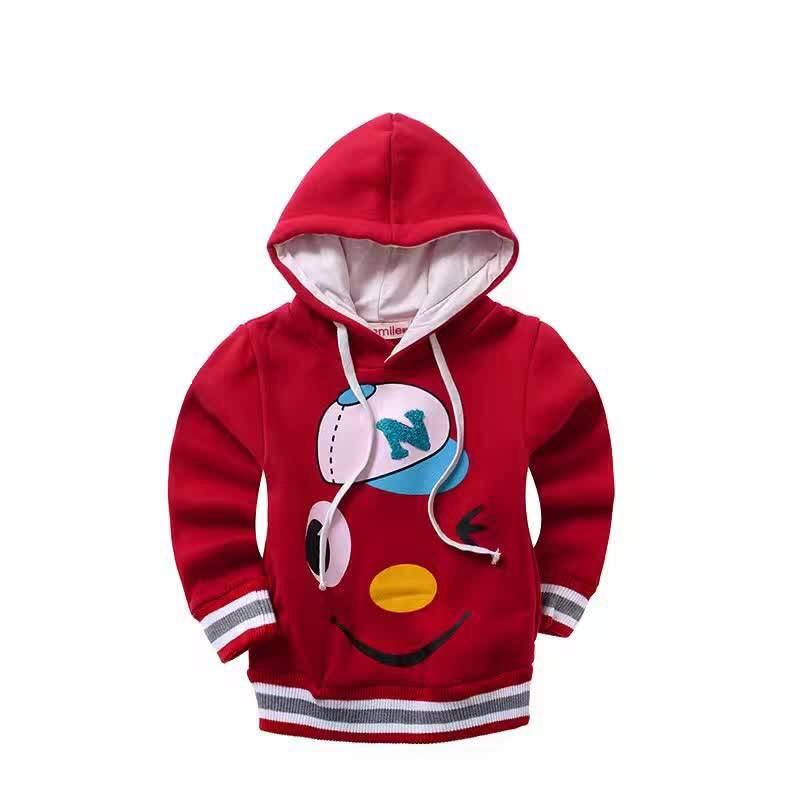 LaraModa Baseball Cap Jongens Sweater - rood