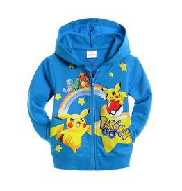Jongenskleding Pokémon GO Sweatvest - blauw