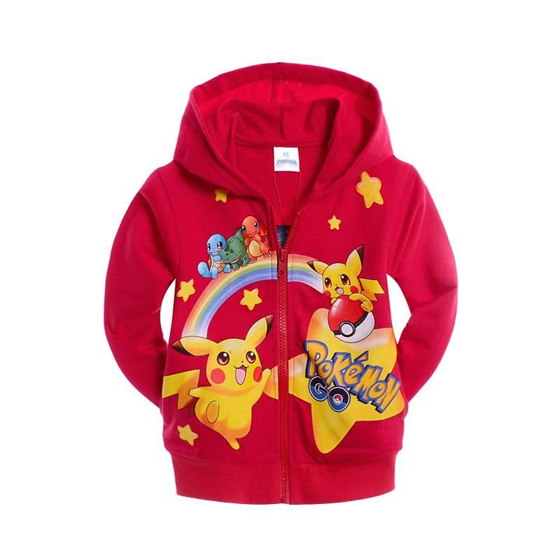 Jongenskleding Pokémon GO Jongens Sweatvest - rood
