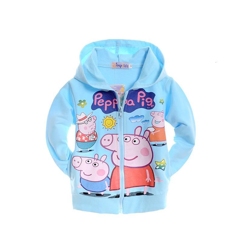 Meisjeskleding Peppa Pig Meisjes Sweatvest - blauw