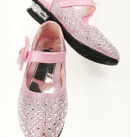 LaraModa Meisjesschoen met strass steentjes - roze