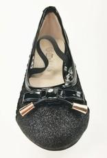 Meisjesschoenen Meisjesschoen - Ballerina's - doorzichtig - glitter - zwart