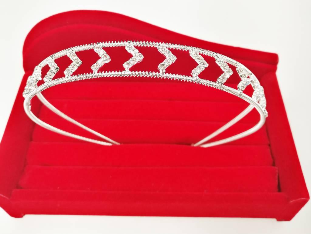 Haardecoratie Accessoires voor meisjes - Strass Diadeem / Tiara - SD-08