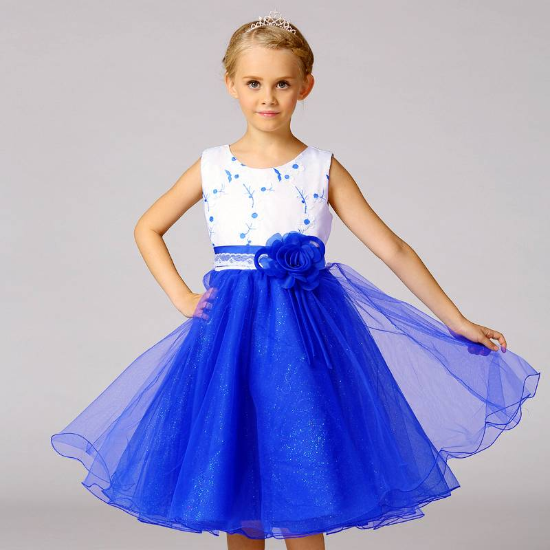 LaraModa Meisjes Feestjurk Mila - blauw