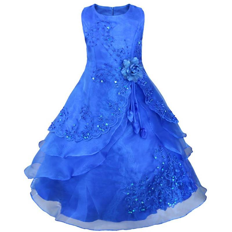 Bruidsmode Kinderen Meisjes Feestjurk Esmeralda Blauw