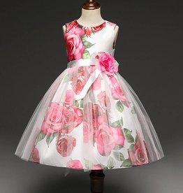 LaraModa Feestjurk Rosanne - roze