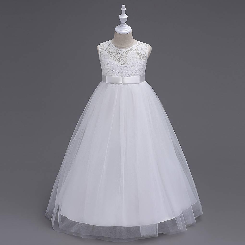 Meisjeskleding Meisjes Feestjurk Victoria - wit