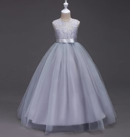 Meisjeskleding Feestjurk Victoria - grijs