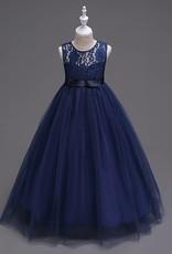 Meisjeskleding Meisjes Feestjurk Victoria - navy blauw
