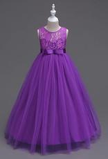 Meisjeskleding Meisjes Feestjurk Victoria - paars