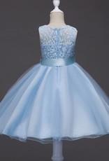 Meisjeskleding Meisjes Feestjurk Romy - blauw