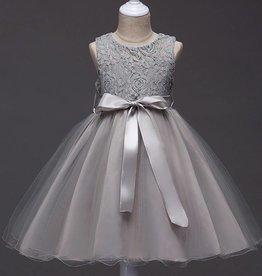 Meisjeskleding Feestjurk Romy - grijs