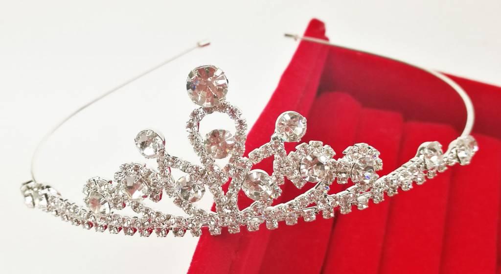 Haardecoratie Accessoires voor Meisjes - Strass Diadeem / Tiara - SD-11