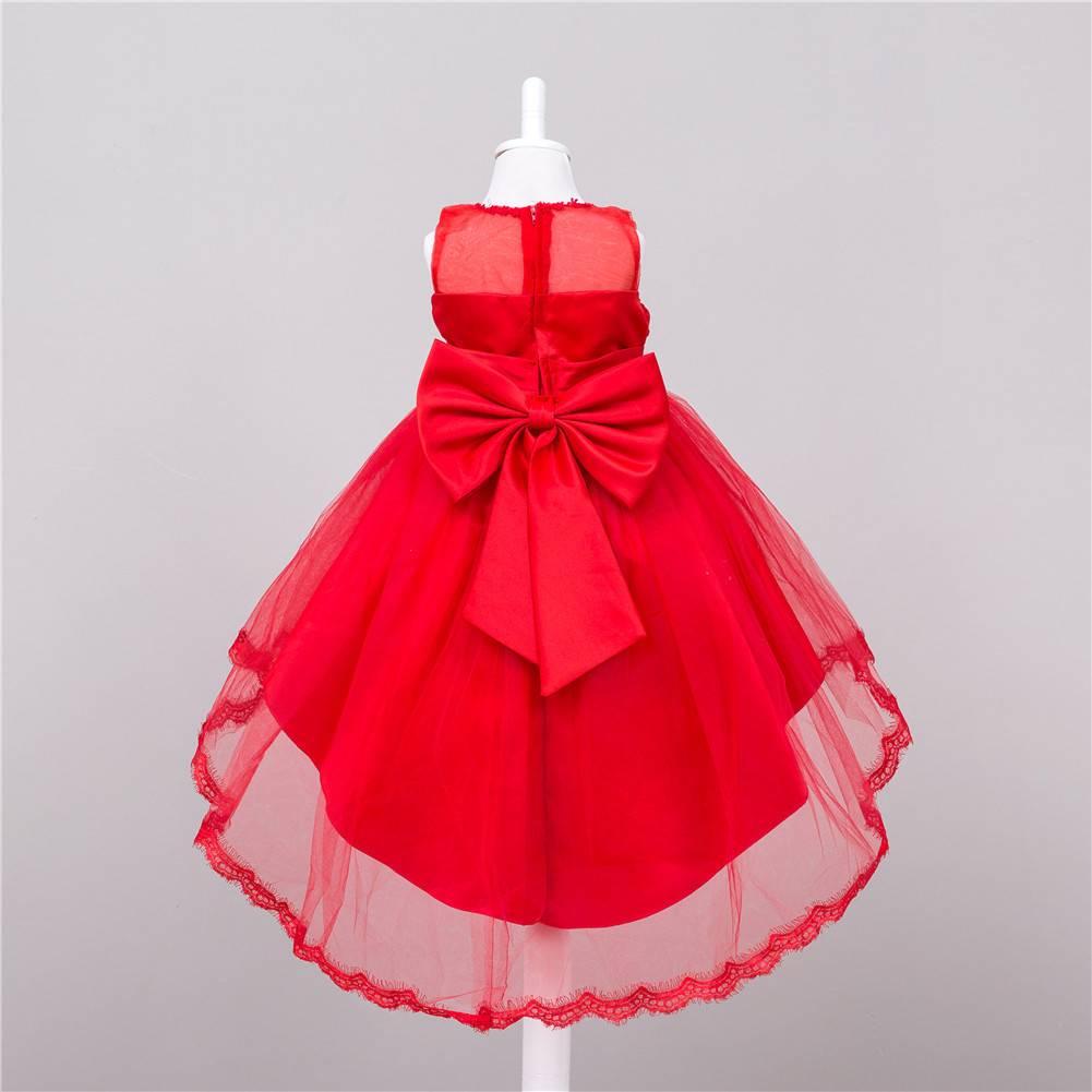 Meisjeskleding Meisjes Feestjurk Leah - rood