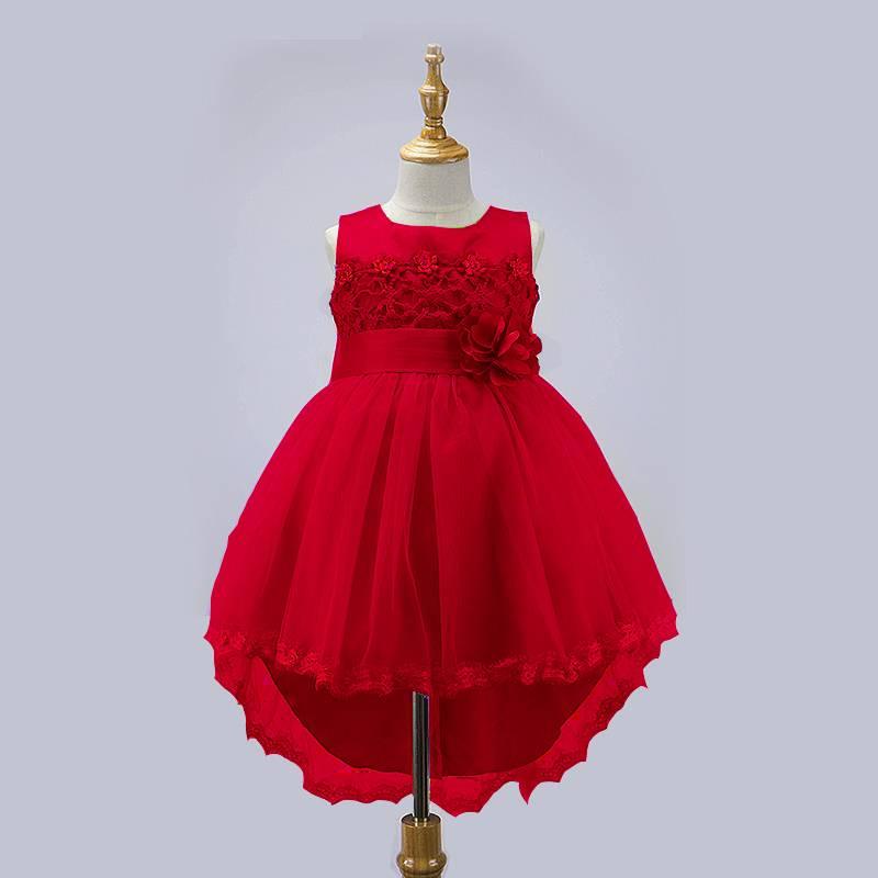 LaraModa Meisjes Feestjurk Alina - rood
