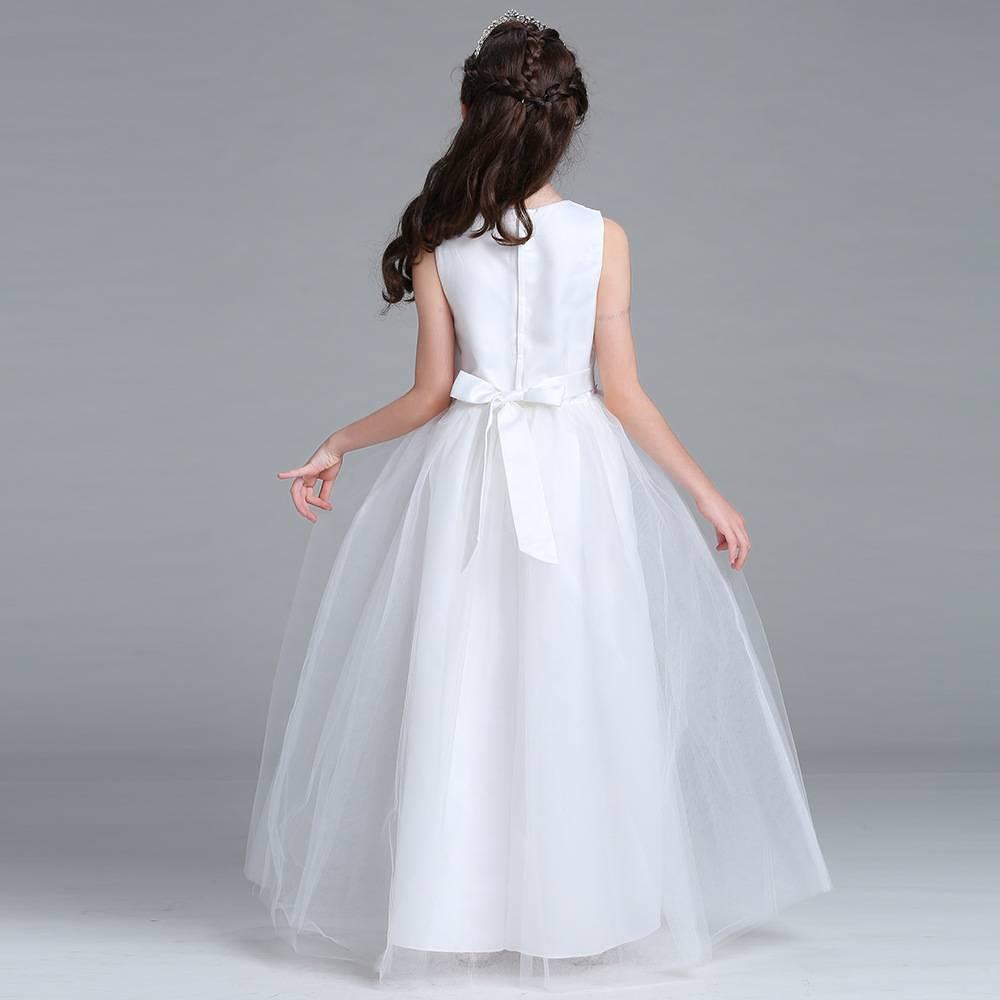 Meisjeskleding Meisjes Feestjurk Lucy - wit / roze