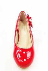 Meisjesschoenen Meisjesschoen - Pumps - lak - rood - strikje