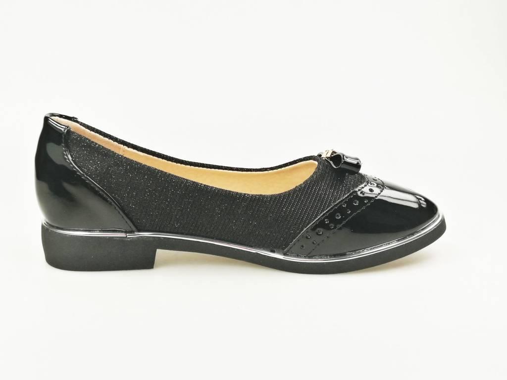Meisjesschoenen Meisjesschoen - Ballerina's - lak - glitter - zwart