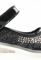 Meisjesschoenen Meisjesschoen - glitter - LED - zwart