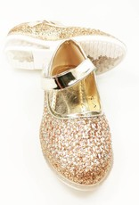 LaraModa Meisjesschoen - glitter - LED - goud