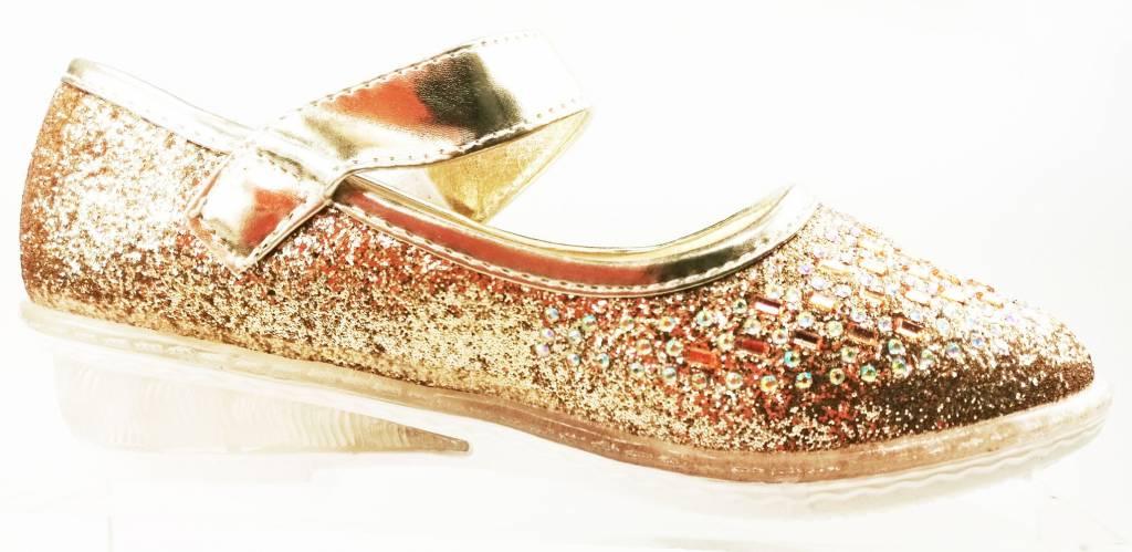 Meisjesschoenen Meisjesschoen - glitter - LED - goud