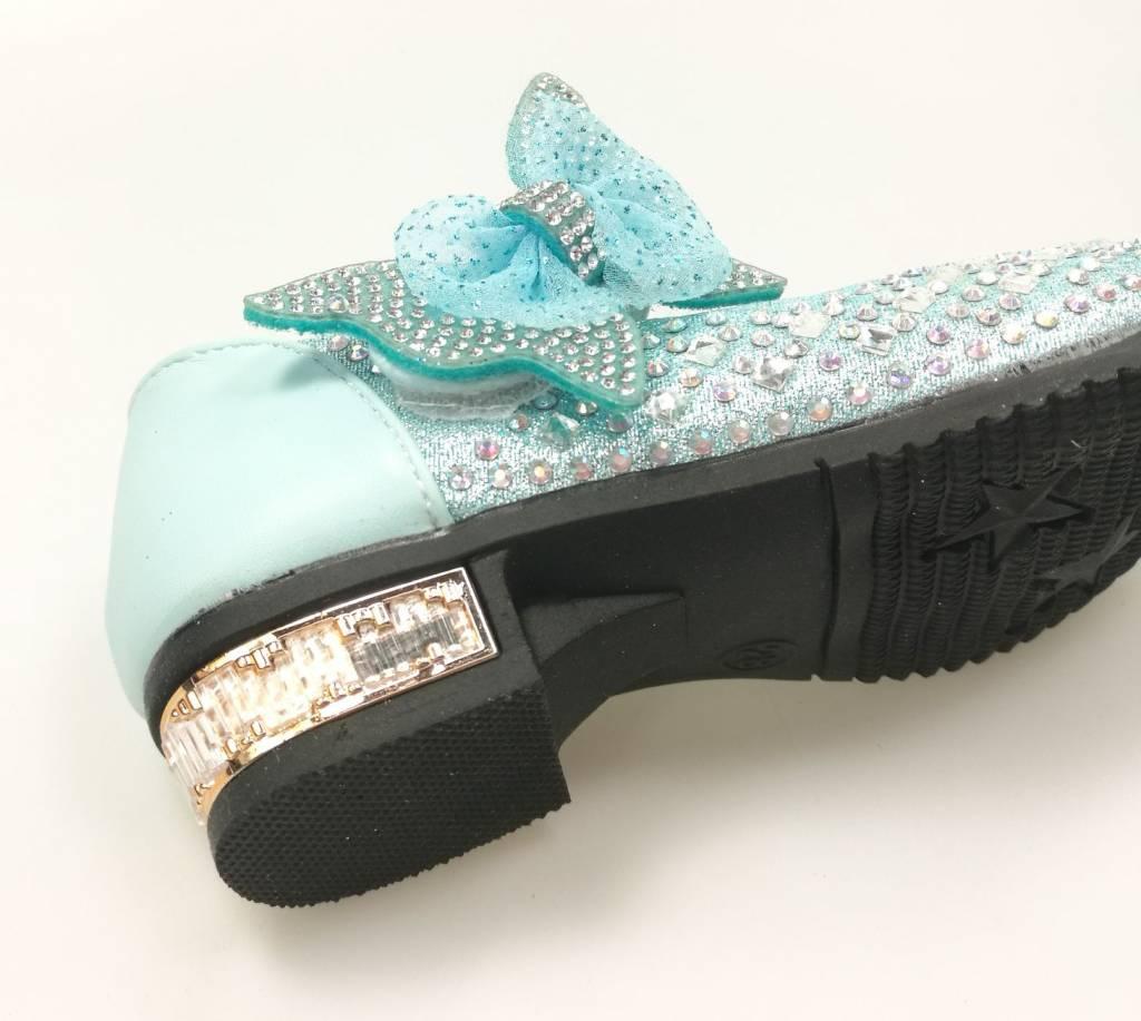 Meisjesschoenen Meisjesschoen met strass steentjes - blauw