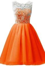 Meisjeskleding Meisjes Feestjurk Julia - oranje