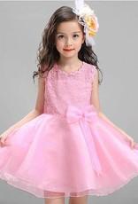 LaraModa Meisjes Feestjurk Renee - roze