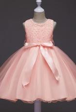 LaraModa Meisjes Feestjurk Romy - roze