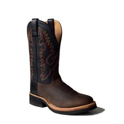 Old West Dames Round Toe Apache Brown - Black