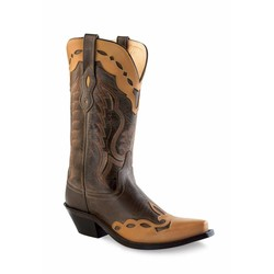 Old West Dames Cowgirlboot Donkerbruin - Canyonbruin