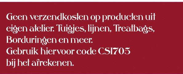 Gratis verzending van producten uit eigen atelier. Gebruik code CS1705 bij het afrekenen.