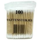 Wattips hout 100 stuks