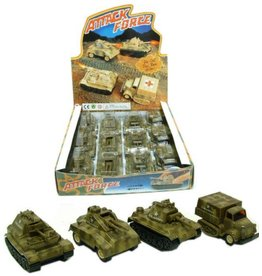 Die Cast Attack Force Tank 4 assorti per 12 in display
