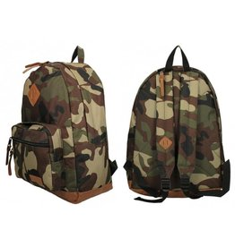 Rugzak polyester camouflage 32x16x45cm.