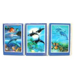 3D Adresboek Dolfijnen 3 assorti