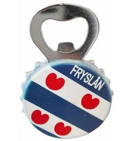 Friesland Opener met magneet 9,5x5cm.