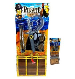 Piratenset met kaart en schatkist op kaart 48.5x23,5cm