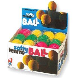 Softbal 3 stuks in zakje 7 cm - 8 zakjes in display
